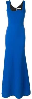 Victoria Beckham irregular neckline dress