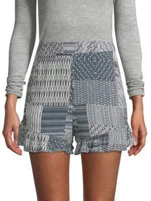 BCBGMAXAZRIA Printed High-Rise Shorts