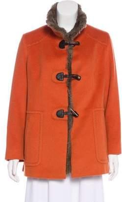 Cinzia Rocca Fur-Lined Wool Jacket