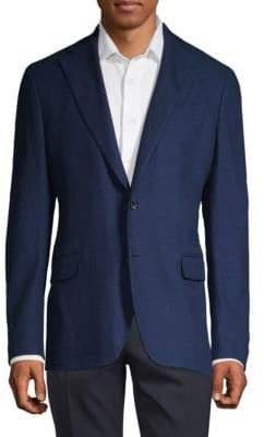 Salvatore Ferragamo Textured Cotton Jacket