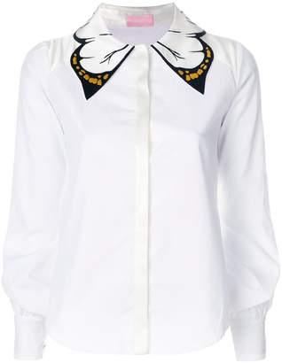 Giamba butterfly collar shirt