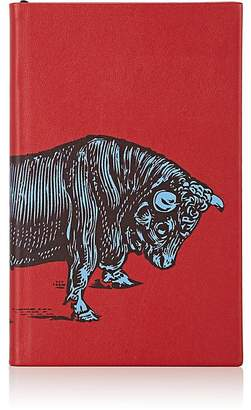 Smythson Bull-Motif Panama Notebook