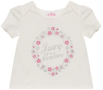 Juicy Couture Floral Cameo Short Sleeve Tee for Baby
