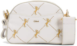 Chloé Mini Signature Embroidered Leather Bag in Brilliant White | FWRD