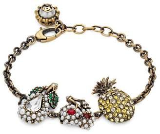 Gucci Crystal fruit bracelet in metal