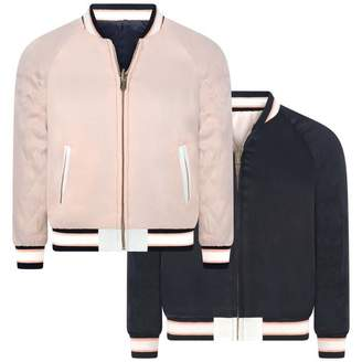 Chloé ChloeGirls Pink & Navy Reversible Toucan Jacket
