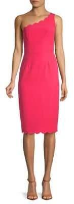 Maggy London One-Shoulder Sheath Dress