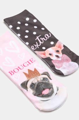Ardene Dog Print Ankle Socks