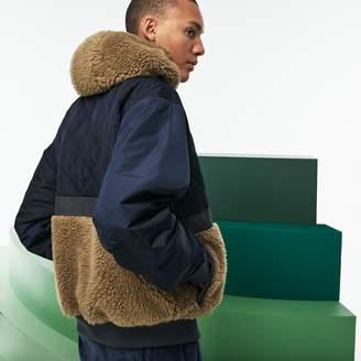 Lacoste Men's Fashion Show Reversible Gabardine And Technical Canvas Jacket