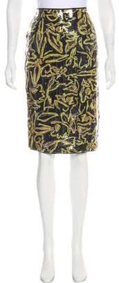 Diane von Furstenberg Sequined Knee-Length Skirt w/ Tags