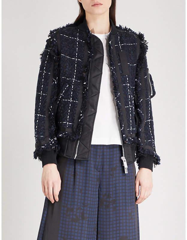 Sacai Tweed bomber jacket