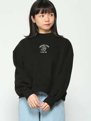 INGNI (イング) - INGNI 裏毛レトロ刺繍モックネック長袖 イング カットソー
