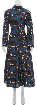 Marni Printed Silk Dress brown Printed Silk Dress