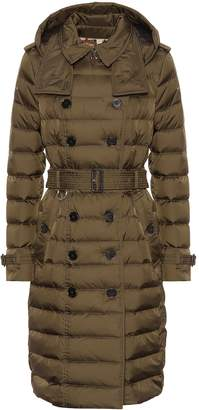 Burberry Double-breasted down puffer coat