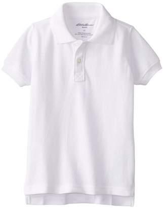 Eddie Bauer Boys School Uniform Short Sleeve Pique Polo Shirt