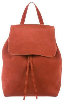 Mansur Gavriel Suede Drawstring Backpack