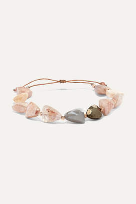 Chan Luu Rose Gold-plated Multi-stone Bracelet - Pink