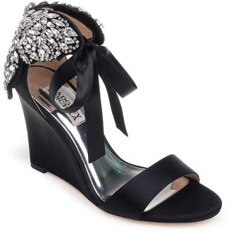 Badgley Mischka Heather Crystal Embellished Wedge