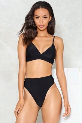 Nasty Gal High Leg High Waist Bikini Brief