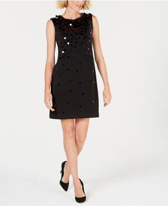 Alfani Sequin Paillete Sleeveless Shift Dress