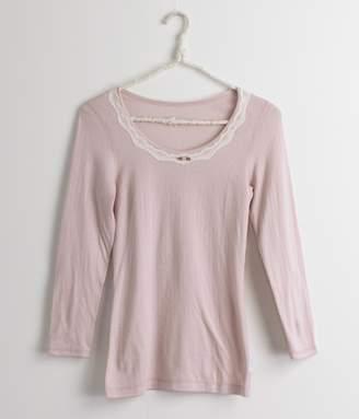 【送料無料】ファッション8分袖インナー(A・オパールピンク)