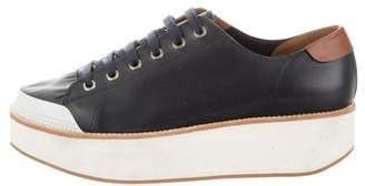 Flamingos Leather Flatform Sneakers