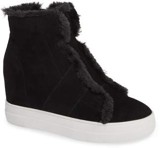Very Volatile Bonnet Faux Fur Wedge Sneaker Bootie