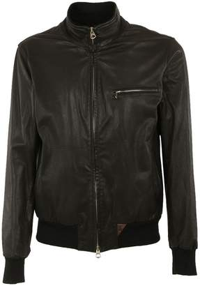 Stewart Chest Pocket Leather Jacket