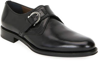 Salvatore Ferragamo Men's Tobias Monk-Strap Gancio Loafers