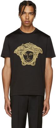 Versace Black & Gold Medusa T-Shirt $595 thestylecure.com