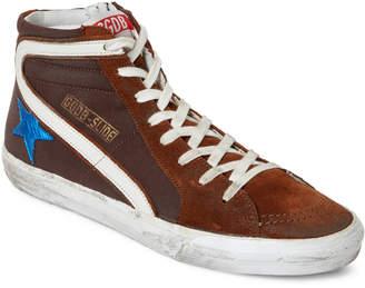 Golden Goose Brown Slide Distressed High-Top Sneakers