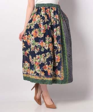ANAP (アナップ) - ANAP スカーフパッチワーク風ギャザーマキシスカート