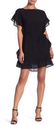 Line & Dot Dina Ruffle Trim Waist Tie Dress