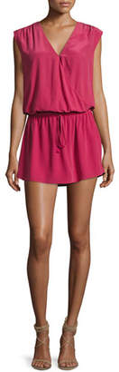 Joie Aniya Sleeveless Silk Mini Dress, Red