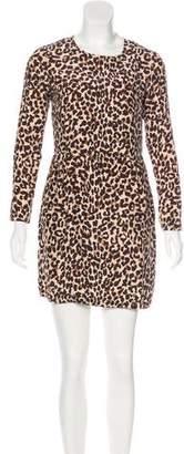 Steven Alan Leopard Printed Mini Dress