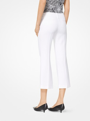 Michael Kors Double Crepe-Sable Cropped Trousers