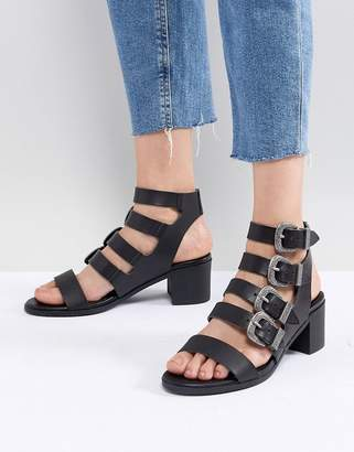 Miss Selfridge Multi Buckle Heeled Sandals