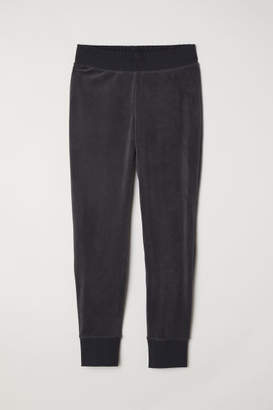 H&M Velour Joggers - Gray
