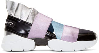 Emilio Pucci Black and Metallic City Up Sneakers