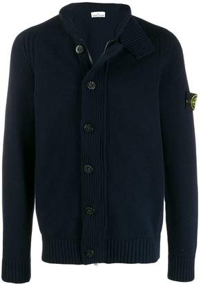 Stone Island logo button-down cardigan