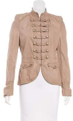 BOSS ORANGE Hugo Leather Military Jacket