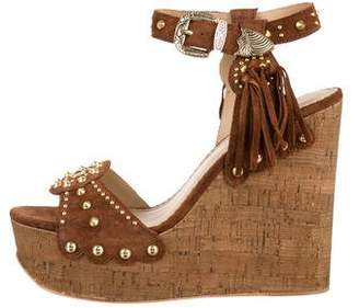 Ash Embellished Wedge Sandals w/ Tags