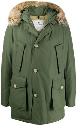 Woolrich multi-pocket parka coat
