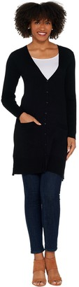Brooke Shields Timeless BROOKE SHIELDS Timeless Long Cardigan with Front Pockets