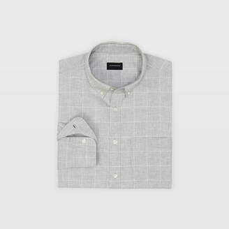 Club Monaco Slim Windowpane Flannel Shirt