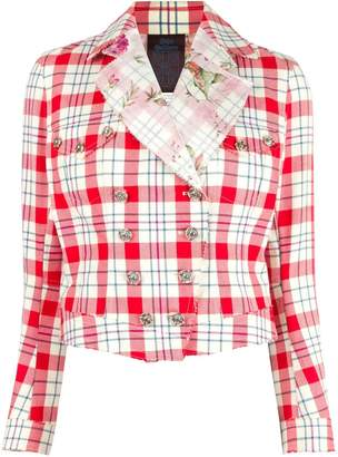 John Galliano Pre-Owned checked jacket
