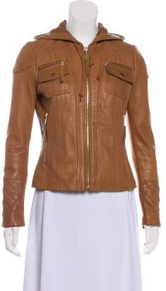 MICHAEL Michael Kors Leather Quilted Jacket