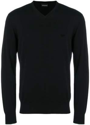 Emporio Armani v-neck slim fit sweater