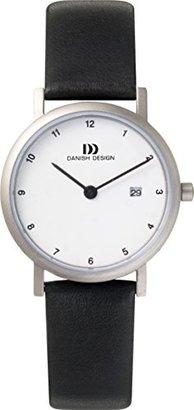 Danish Design (ダニッシュ デザイン) - デンマークデザインiv12q272チタニウムCaseレザーバンドホワイトダイヤルレディース時計