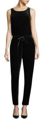 Eileen Fisher Velvet Drawstring Slouchy Jumpsuit